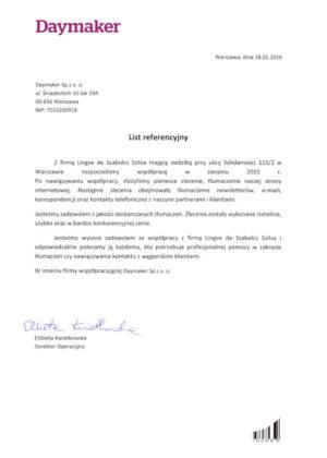 tłumaczenia na węgierski Warszawa